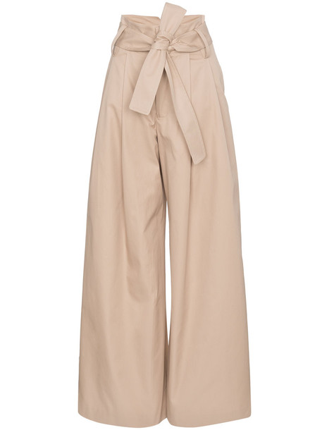 Wright Le Chapelain women nude cotton pants