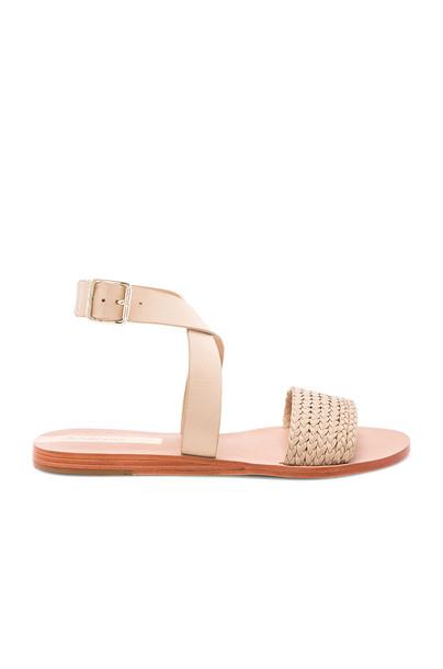 KAANAS braided beige shoes