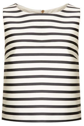 Bonded Stripe Shell - Tops  - Clothing  - Topshop USA