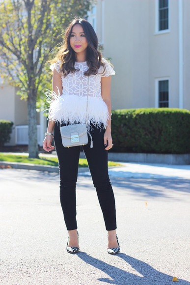 feathers blogger clutch i am khatu top polka dots