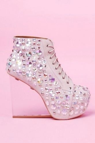 shoes sparkly white high heels clear