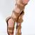 Snakeskin Print Gladiator Sandals | Obsezz