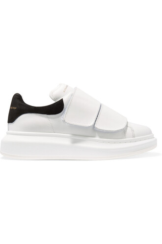 sneakers leather suede white shoes