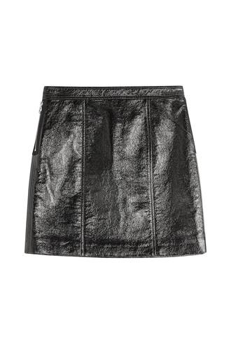 skirt mini skirt mini leather black