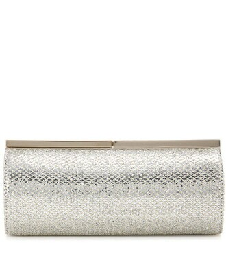 embellished clutch silver bag