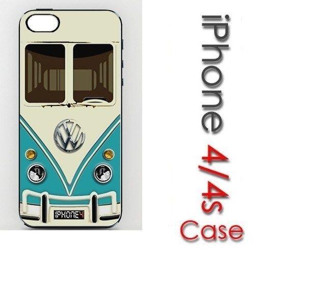 VW Volkswagen Mini Vans Teal Mini Bus Case for iPhone 4 4S | eBay