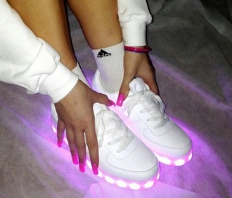 shoes girls sneakers glow in the dark girls shoes love