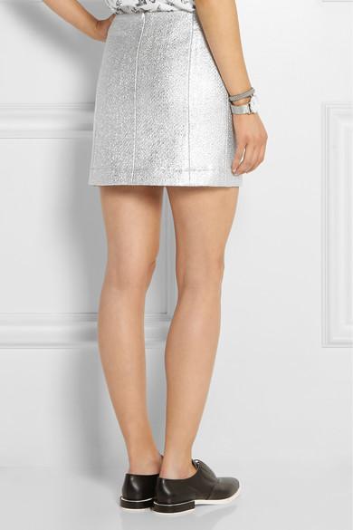 Blend cloqué mini skirt