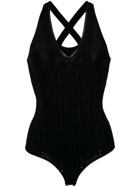 body women spandex black underwear