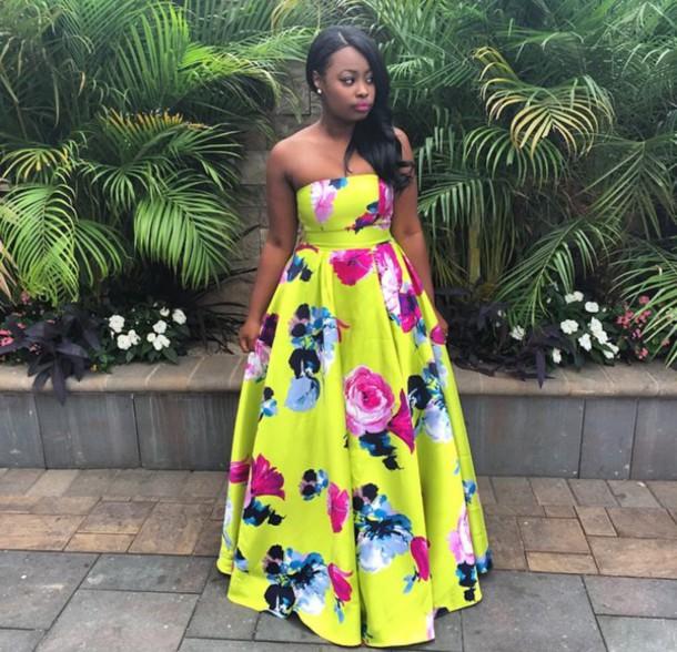 dress floral dress gown floral maxi dress yellow dress