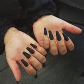 nail polish,black,matte nail polish,dark nail polish