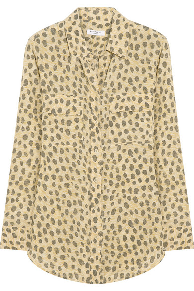 Equipment | Signature leopard-print washed-silk shirt | NET-A-PORTER.COM
