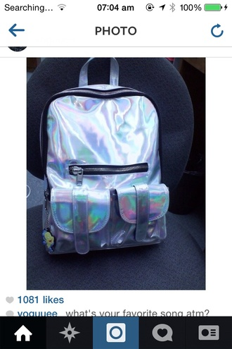 bag holo holographic graphic tee cool swag dabomb alternative indie hipster