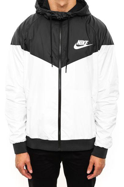 4cb56699a jacket nike nikewindrunner nike jacket menswear mens sportswear black and  white windbreaker nike windbreaker
