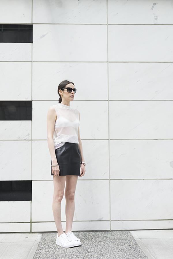 melissa araujo skirt underwear sunglasses