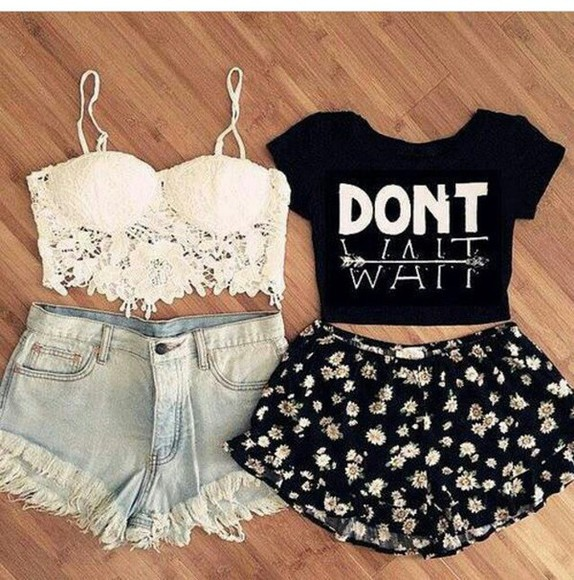 shorts crop tops top floral shorts don't wait black crop top floral crop top fashion floral tank top