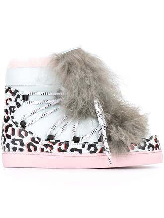 fur animal sneakers print animal print blue shoes