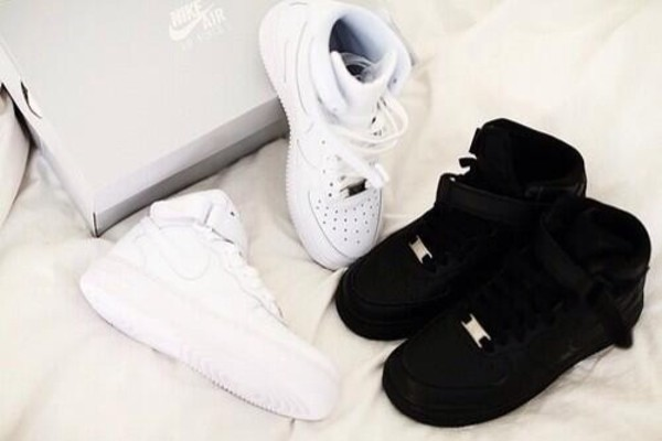shoes nike nike air nike air force 1 black white white nike air force one bag