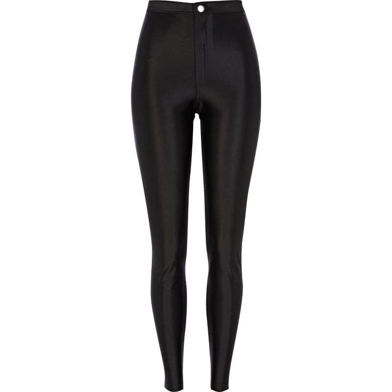 flesheating's save of Black wet look tube pants - tube pants - pants - women on Wanelo