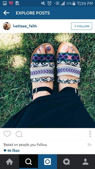 shoes sandals summer sandals aztec print sandals aztec pront