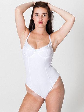 Cotton spandex jersey bra bodysuit