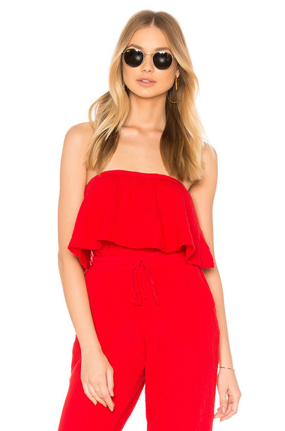 Michael Stars top tube top red