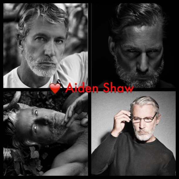 sunglasses aiden shaw grey hair hot gorgeous fitness fit menswear mens sweater