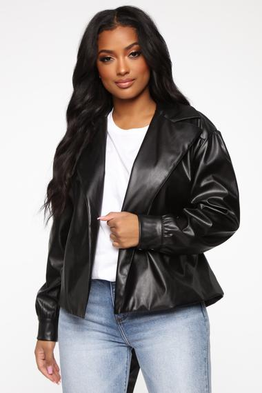 So Worth It Faux Leather Jacket - Black