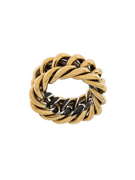Ugo Cacciatori women ring gold grey metallic jewels