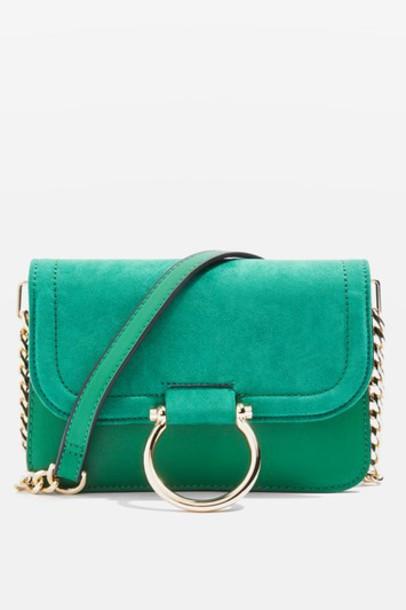 Topshop cross new bag green