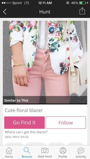 jacket floral blazer women's blazer floral blazer