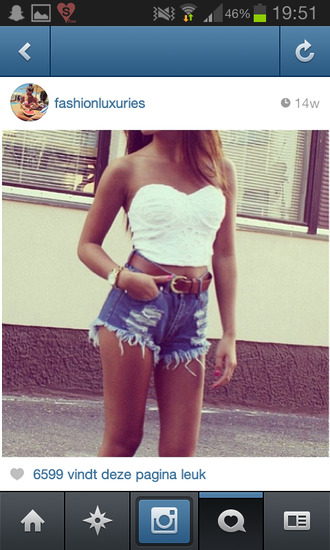shirt white bandeau top corset top crop tops