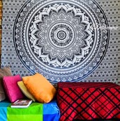 home accessory,hippie,black,white,black and white,psychedelic tapestries,hippie wall hanging