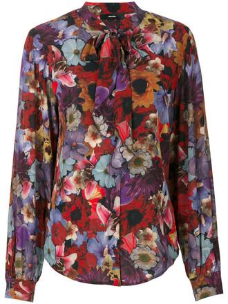 blouse women floral print top