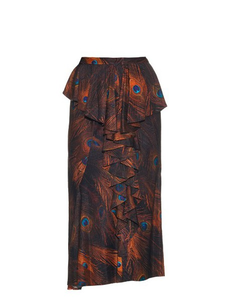 Givenchy skirt vintage print silk