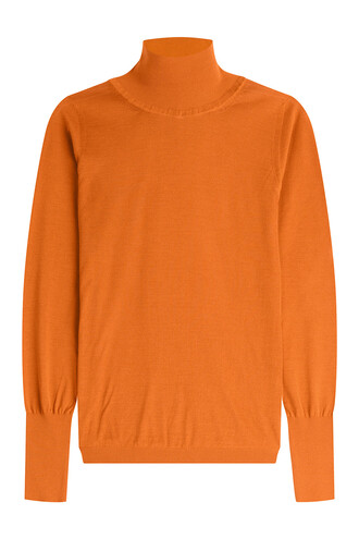 turtleneck silk orange sweater