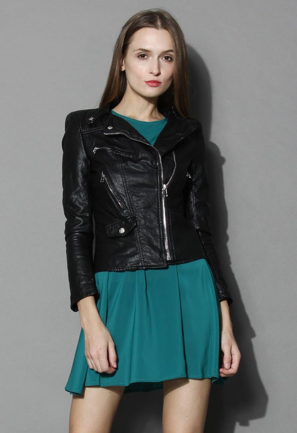jacket chicwish quilted faux leather chic and fashion
