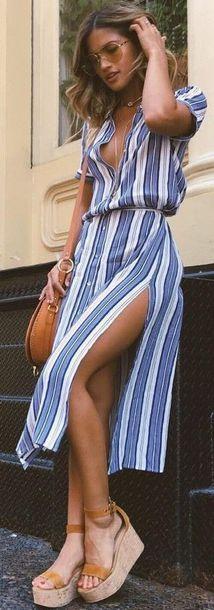 dress summer blue blue dress