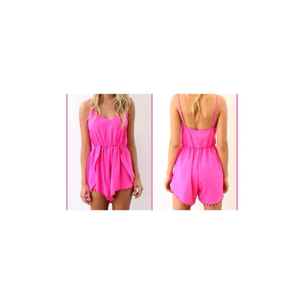jumpsuit pink fadhion fashion romper summer