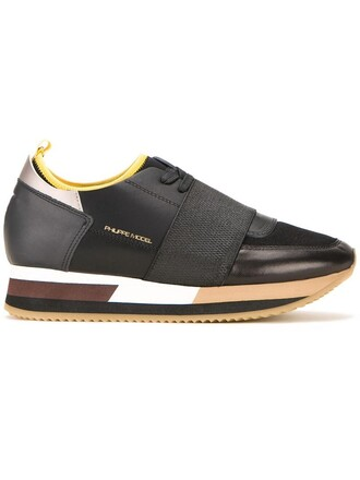 women pretty sneakers leather black shoes