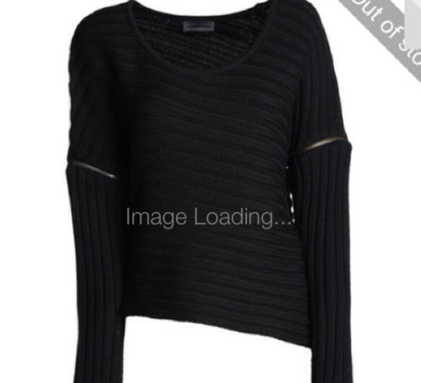 Sweater: black, black sweater, pullover, divergent, dark, long ...