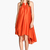Orange Sleeveless Loose High Low Dress - Sheinside.com