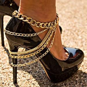 Shoe Anklet Multi - Gold