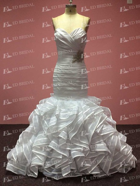 dress wedding dress wedding gowns 2015 mermaid wedding dress mermaid prom dress ruffles wedding dress real sample dress