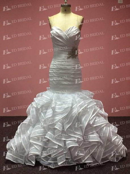 dress wedding dress wedding gowns 2015 mermaid wedding dress mermaid prom dress ruffles wedding dress real sample dress