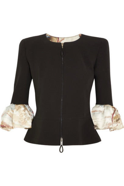 GIORGIO ARMANI jacket peplum jacket embellished black silk