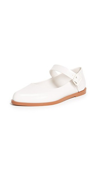 Melissa flats white brown shoes