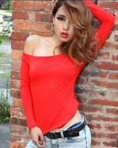 shirt,mixmoss.com,cotton,long sleeves,red dress