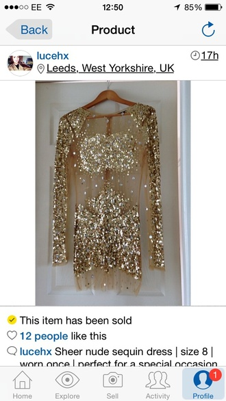 dress see through dress illusion dress gold sequins jovani dress long sleeve mesh sequin illusion dress