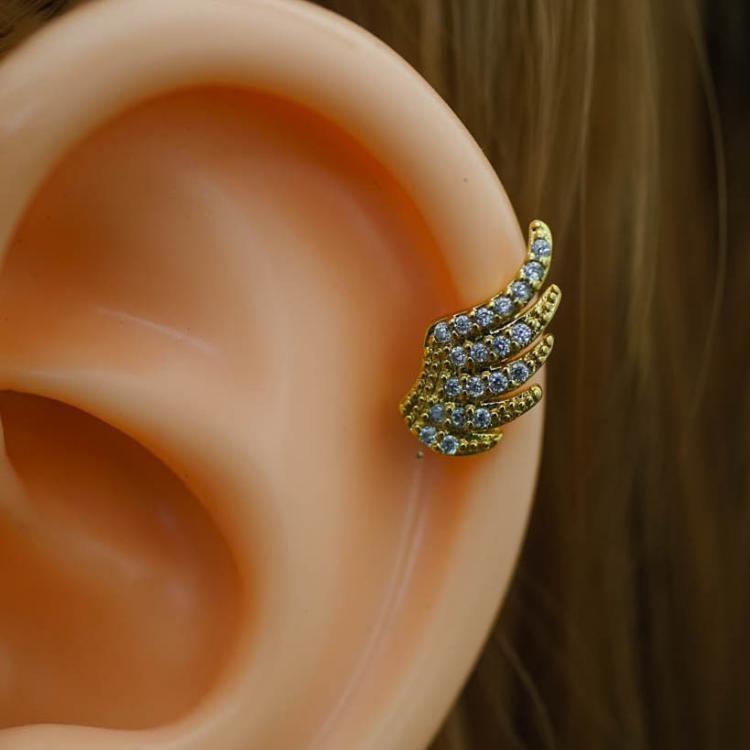 905b921cd6697 Wing Zircon Helix Earring Helix Piercing Cartilage Earring Cartilage  Piercing